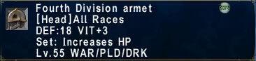 Fourth Division Armet