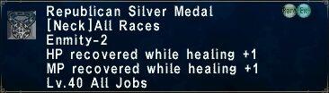 Republican Silver Medal