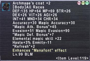 Archmage's Coat +2