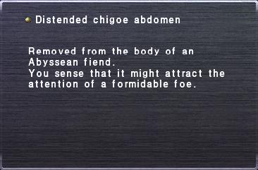 Distended chigoe abdomen