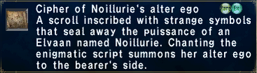 Cipher: Noillurie