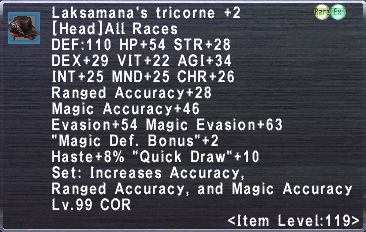 Laksamana's Tricorne +2