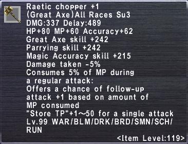 Raetic Chopper +1