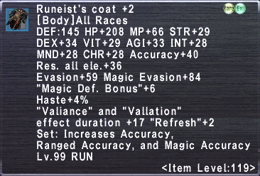 Runeist's Coat +2
