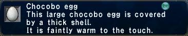 Chocobo Egg (Faintly Warm)