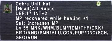 Cobra Unit Hat
