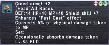 Creed Armet +2