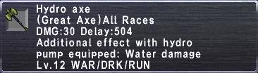 Hydro Axe