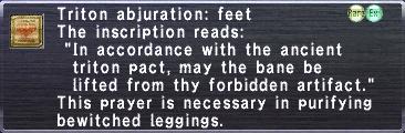 Triton Abjuration: Feet