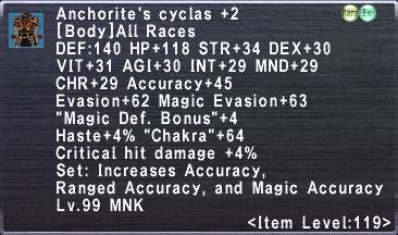 Anchorite's Cyclas +2