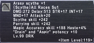 Arasy Scythe +1
