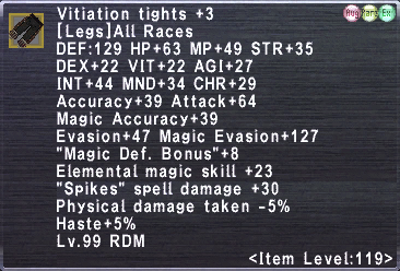Vitiation Tights +3