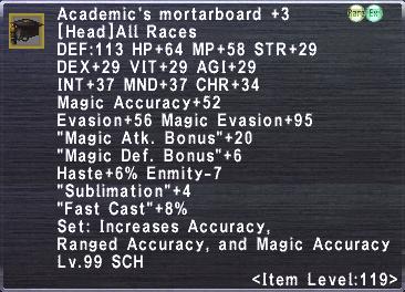 Academic's Mortarboard +3