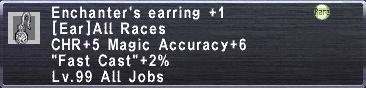 Enchanter's Earring +1