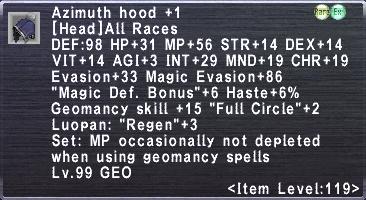 Azimuth Hood +1