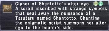 Cipher: Shantotto II
