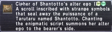 Cipher: Shantotto II