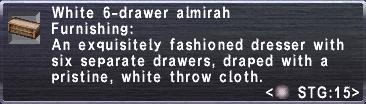 White 6-Drawer Almirah