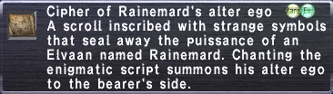 Cipher: Rainemard