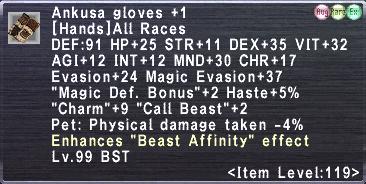 Ankusa Gloves +1