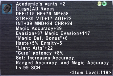Academic's Pants +2