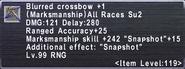 Blurred Crossbow +1