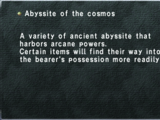 Abyssite of the Cosmos