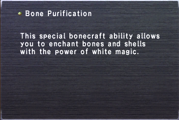 Bone Purification