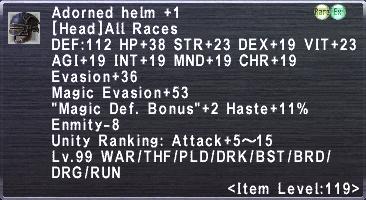 Adorned Helm +1