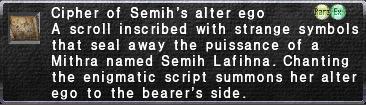 Cipher: Semih