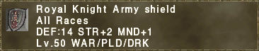 Royal Knight Army Shield