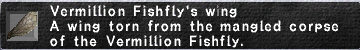 Vermillion Fishfly's Wing