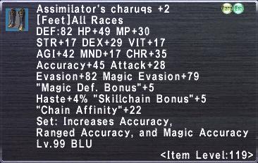 Assimilator's Charuqs +2