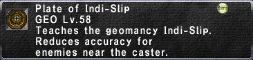Plate of Indi-Slip