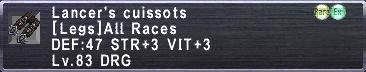 Lancer's Cuissots