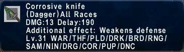 Corrosive Knife