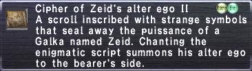 Cipher: Zeid II