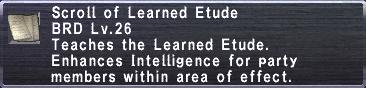 Learned Etude