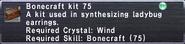 Bonecraft Kit 75