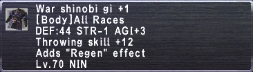 War Shinobi Gi +1