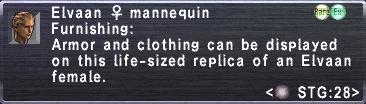 Elvaan F Mannequin