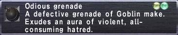 Odious Grenade