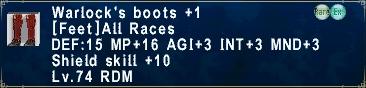 Warlock's Boots +1