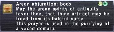 Arean Abjuration: Body
