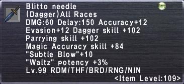 Blitto Needle