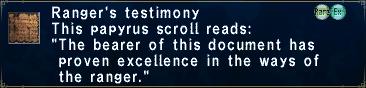 Ranger's Testimony