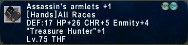Assassin's Armlets +1