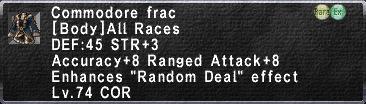 Commodore Frac