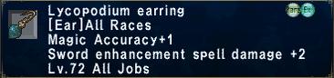 Lycopodium Earring