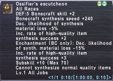 Ossifier's Escutcheon